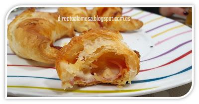 Croissants De Jamón York Y Queso