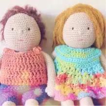 Amigurumi Muñeca Waldorf a Crochet
