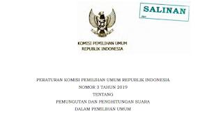 Download PKPU RI Nomor 3 Tahun 2019