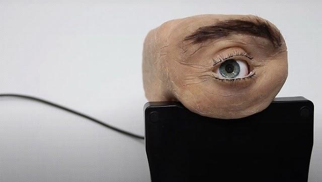 VÍDEO: UNA CÁMARA WEB CON ASPECTO DE OJO HUMANO QUE PARPADEA Y SIGUE CON LA MIRADA