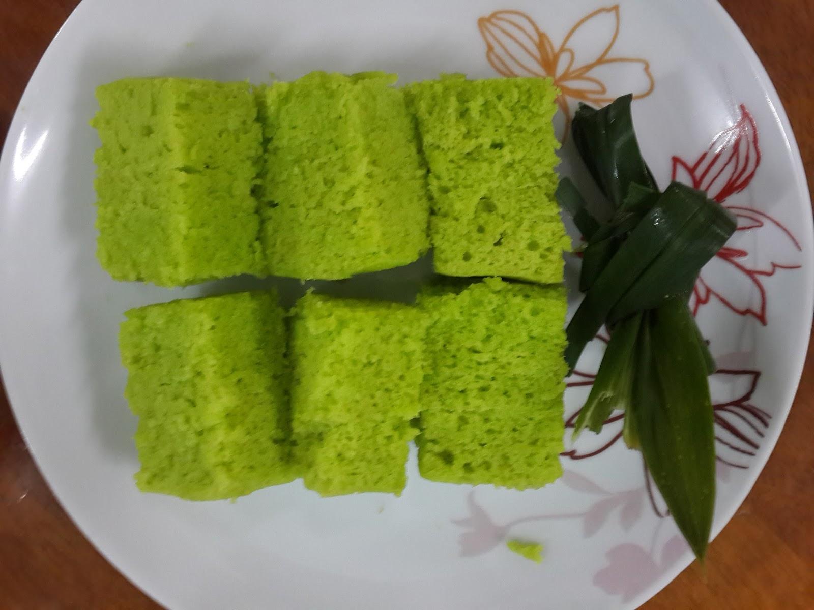 membuat resepi kek span pandan kukus sukatan cawan foody bloggers Resepi Kek Lapis Kukus Sukatan Cawan Enak dan Mudah