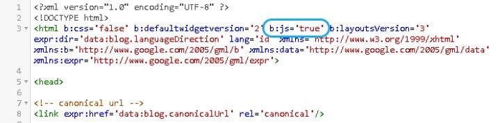 mematikan-javascript-default-blogger