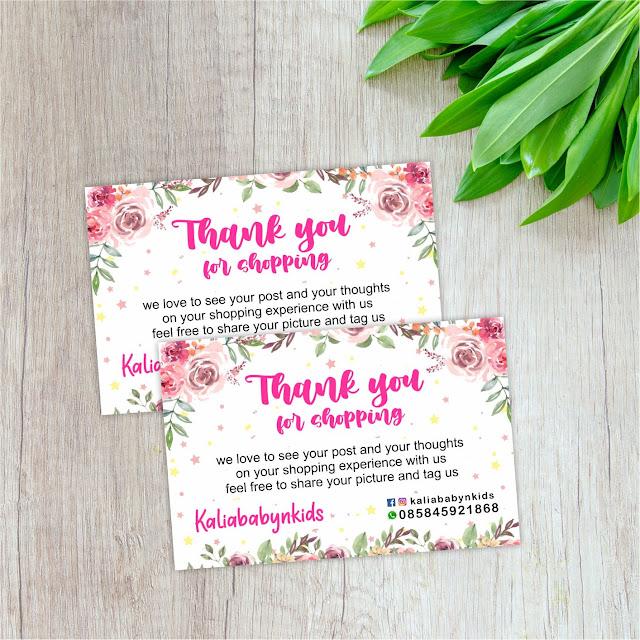 cetak gift card  thanks card  thank you card online shop
