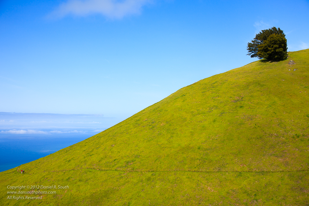 a photo of Hikers on a California Hillside