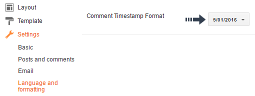 comment timestamp format