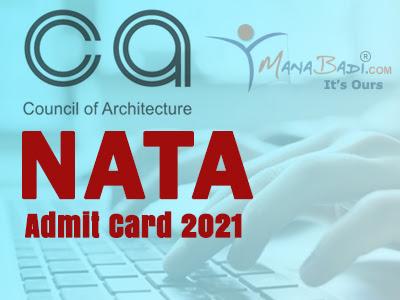 NATA 2021 Hall Tickets