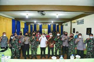 Pemkab Batu Bara Gelar Sosialisasi Tracing dan Testing Bersama TNI-Polri