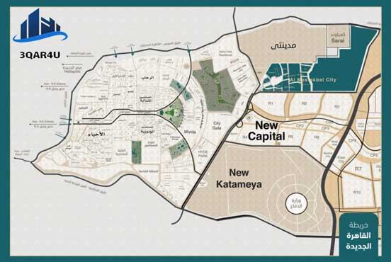 خريطة القاهرة الجديدة