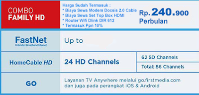 PAKET FIRST MEDIA COMBO FAMILY HD ROUTER WIFI DLINK