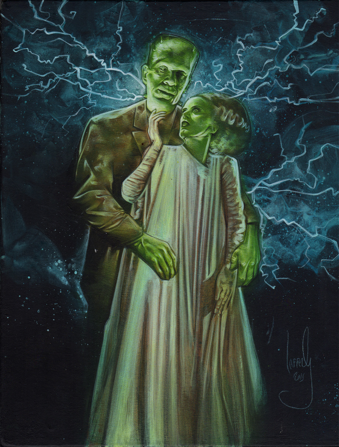 Frankenstein & Bride, Artwork is Copyright © 2015 Jeff Lafferty