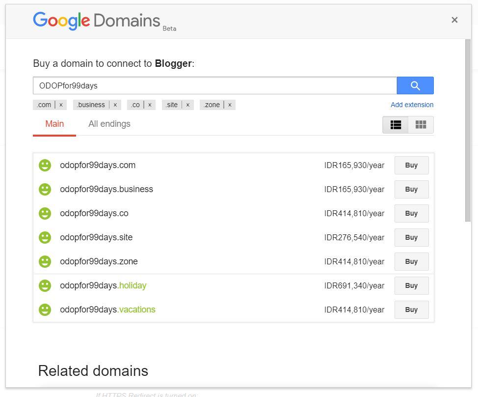 beli domain