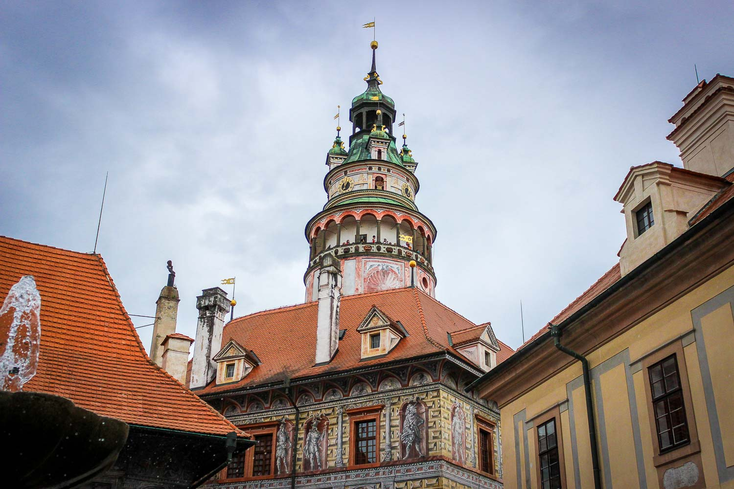 Cesky Krumlov Castle Tower from the 2nd Courtyard