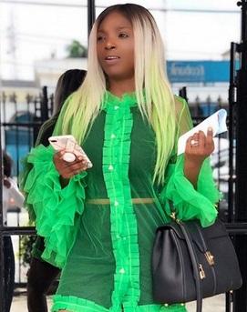 Annie Idibia stuns in green (photos)
