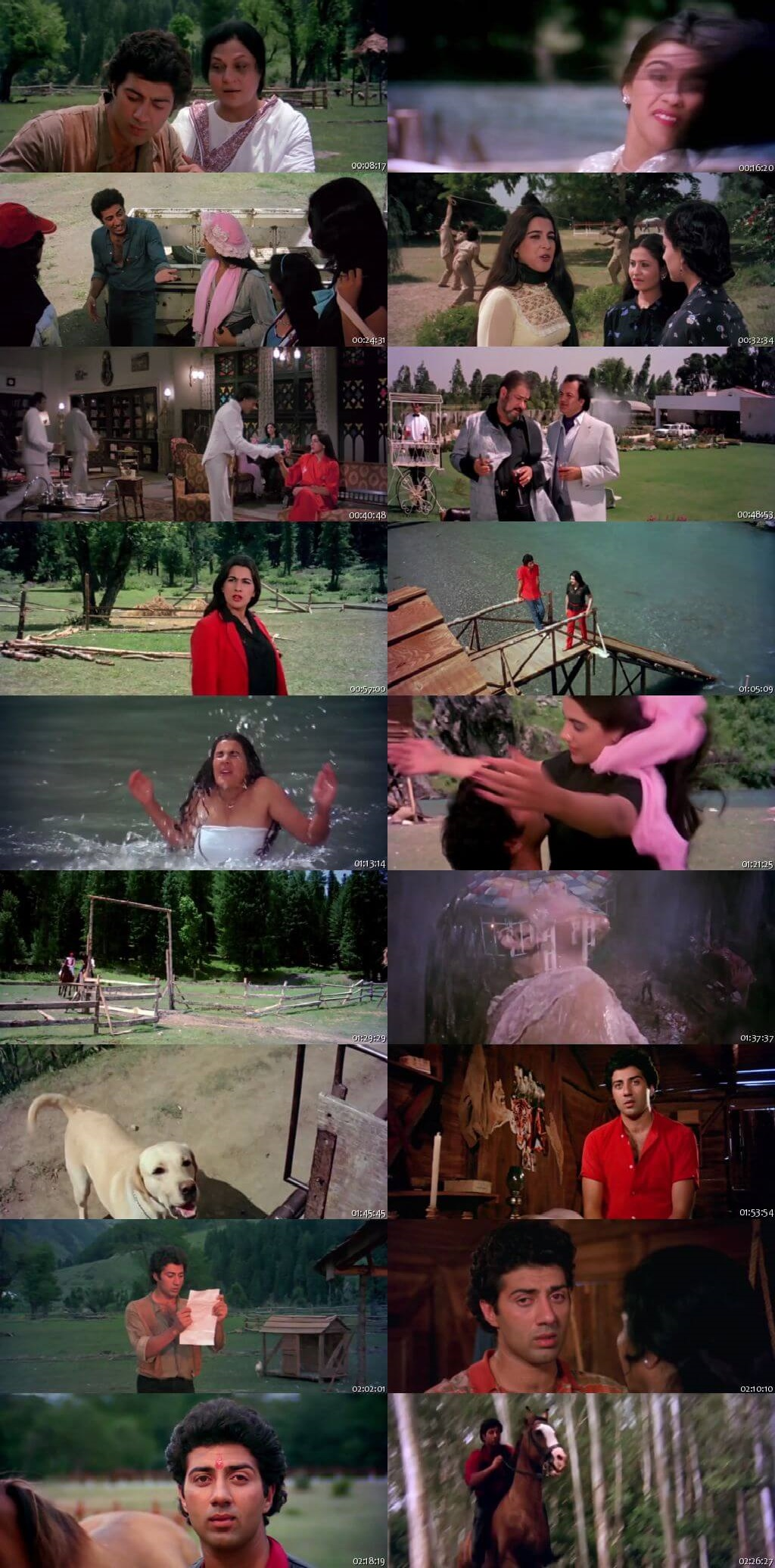 Screen Shot Of Betaab 1983 300MB HDRip 480P Full Hindi Movie Watch Online Free Download