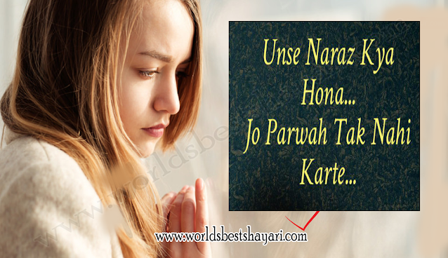 Unse Naraz Kya Hona Shayari