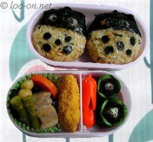 今月のキャラ弁とポケモンのキャラクター, Caractors lunch box of this month and caractors of pockmon,  本月的卡通盒饭和宠物小精灵们