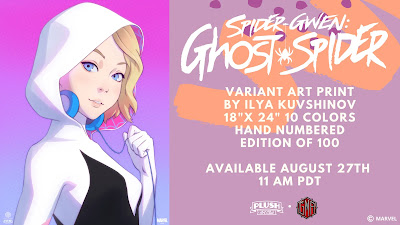 Spider-Gwen: Ghost Spider Marvel Screen Print by Ilya Kuvshinov x Plush Art Club