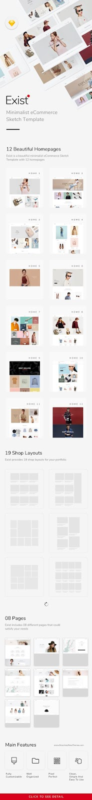Minimalist eCommerce Sketch Template