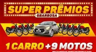 Cadastrar Nova Promoção GBarbosa 1 Carro e 9 Motos - Super Prêmios 2019