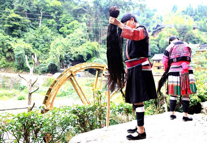 china long hair village, long chinese hair, yao women, yao women hair, hair village, huangluo yao village hair, huangluo village, huangluo, women with long hair, long hair village, chinese long hair