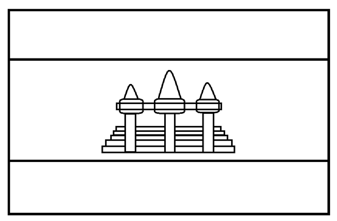 Mewarnai Gambar Sketsa Bendera Negara Kamboja Sebenarnya Termasuk Mudah Terutama