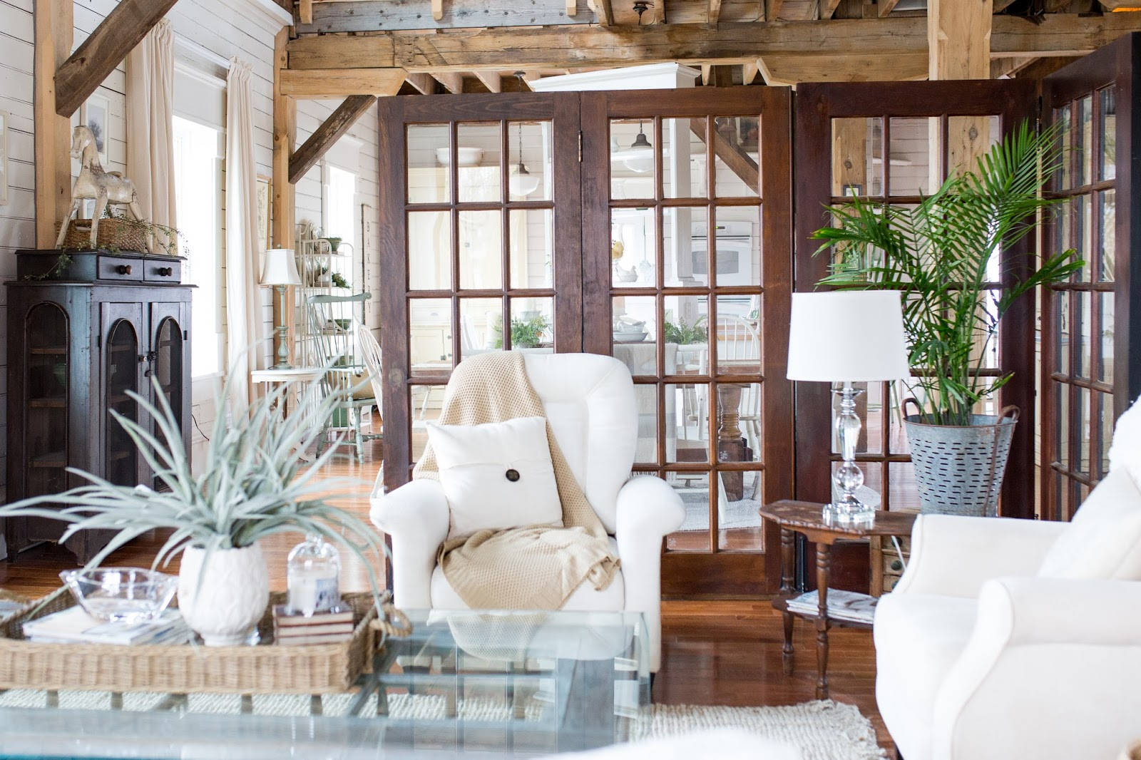 At Home With T Marie French Doors made into room divider