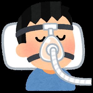 CPAPのマスクのイラスト(鼻と口)