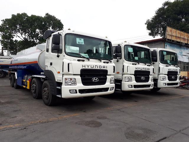 Xe chở xăng dầu Hyundai HD320 4 chân