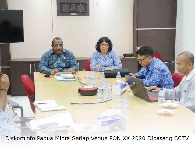 Diskominfo Papua Minta Setiap Venue PON XX 2020 Dipasang CCTV