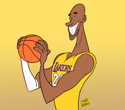 Kobe Bryant cartoon