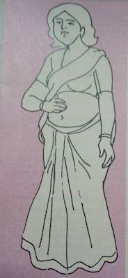 woman with flabby belly