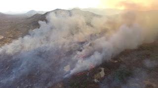 Corpo de Bombeiros controla incêndio florestal que durava mais de 15 dias no Seridó potiguar