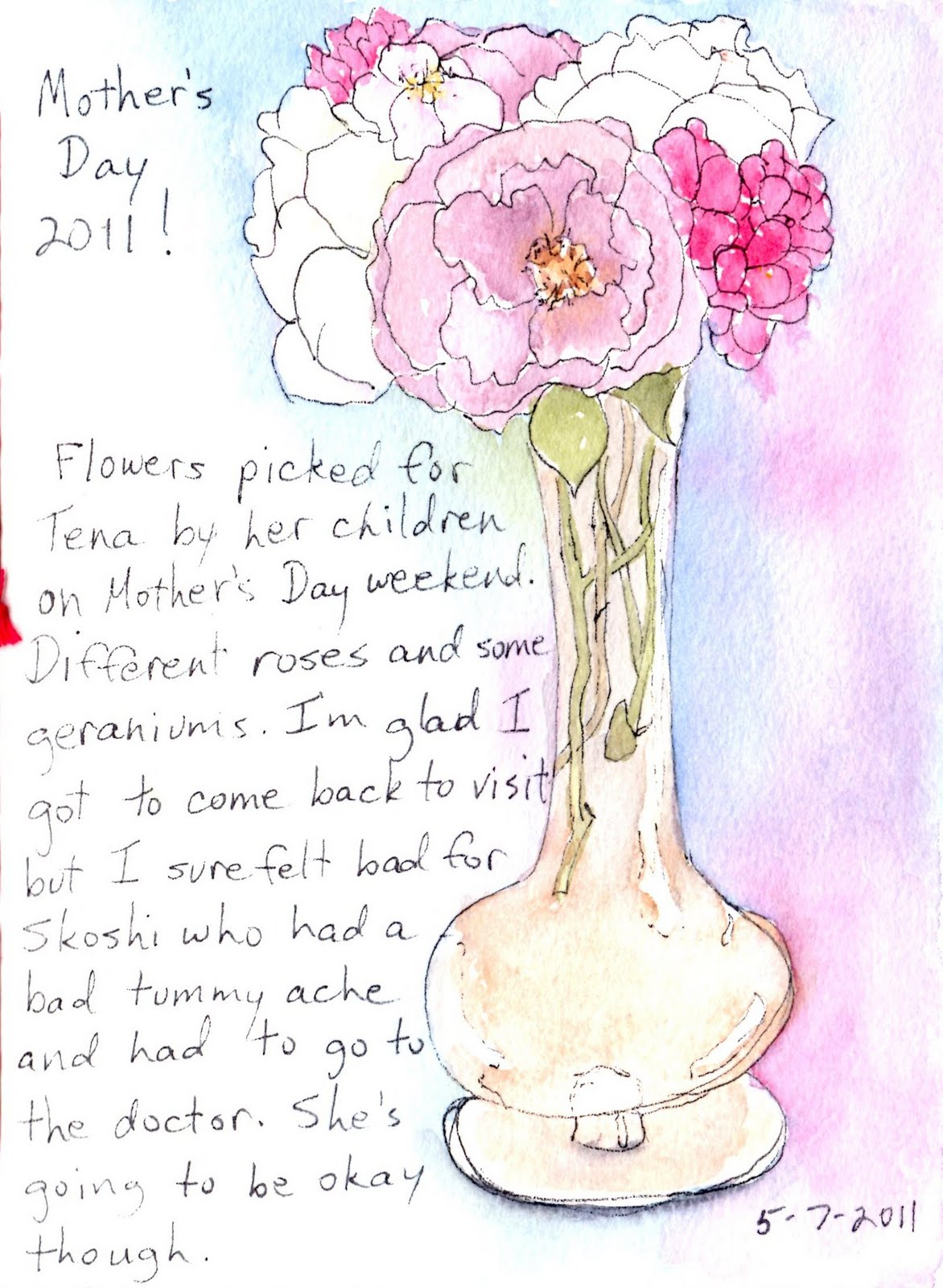 Freebird Drawing: Happy Mother's Day - Mitzi's view