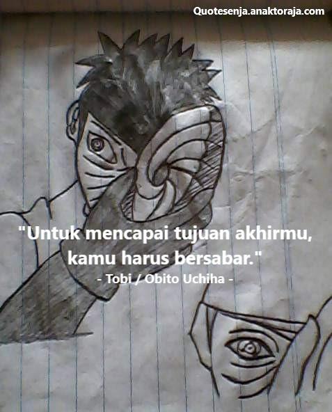 Gambar kata-kata Obito Uchiha
