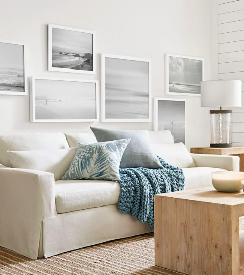 Scenic Black and White Beach Photo Art Photographic Prints