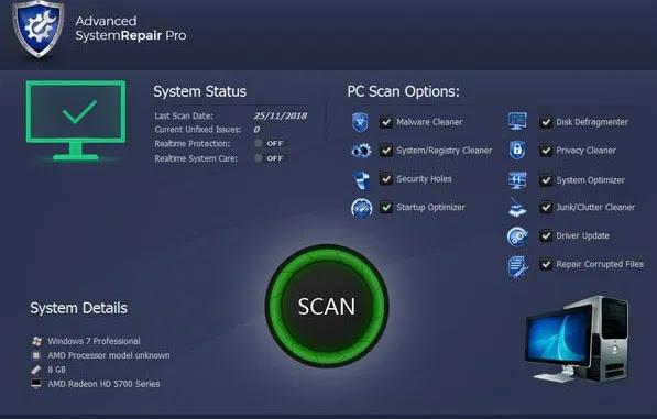 Descargar Advanced System Repair Pro Mega y Mediafire