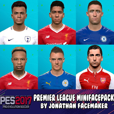 PES 2017 Mini Facepack Premier League by Jonathan Facemaker