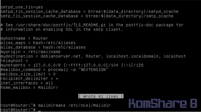 Cara Install Mail Server dan Web Mail Server pada Debian Server