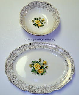 Georgian China bowl and platter