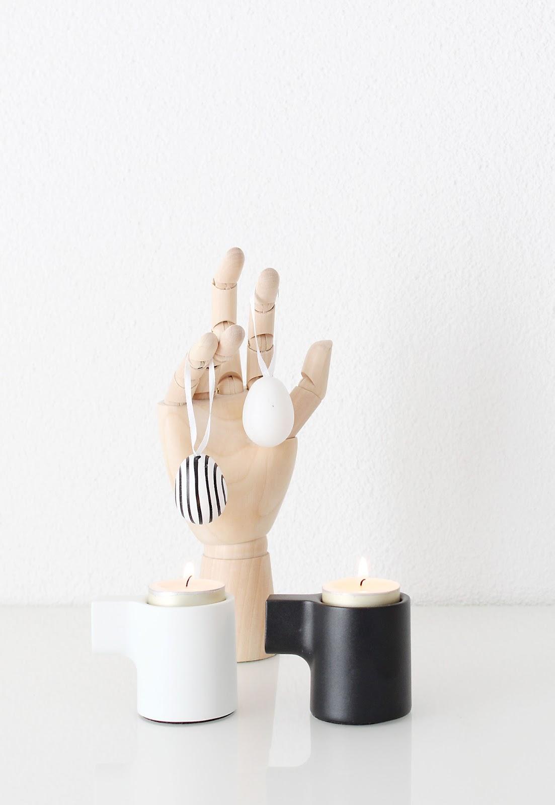 Mini Ikea Hack mit Kerzenständern als stylische Osterdekoration