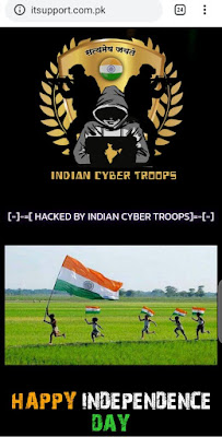 Indian Hackers Hacked Pakistani Websites on Independence Day