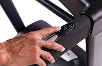 Xterra Fitness TR300 Treadmill's handrail speed & incline controls plus pulse grip heart-rate sensors, image