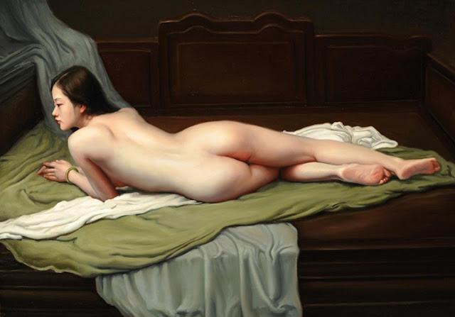 tranh thiếu nữ khỏa thân