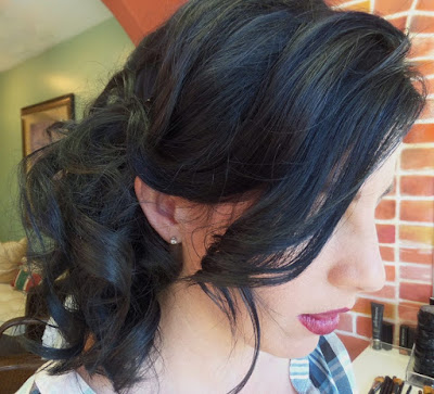side swept bridal  hair style