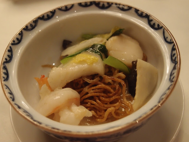 Fried Noodles with abalone and seafood