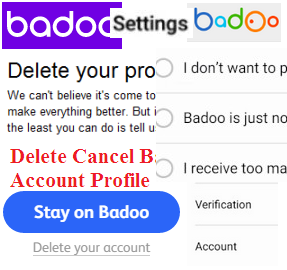 Delete Cancel Badoo Account Profile