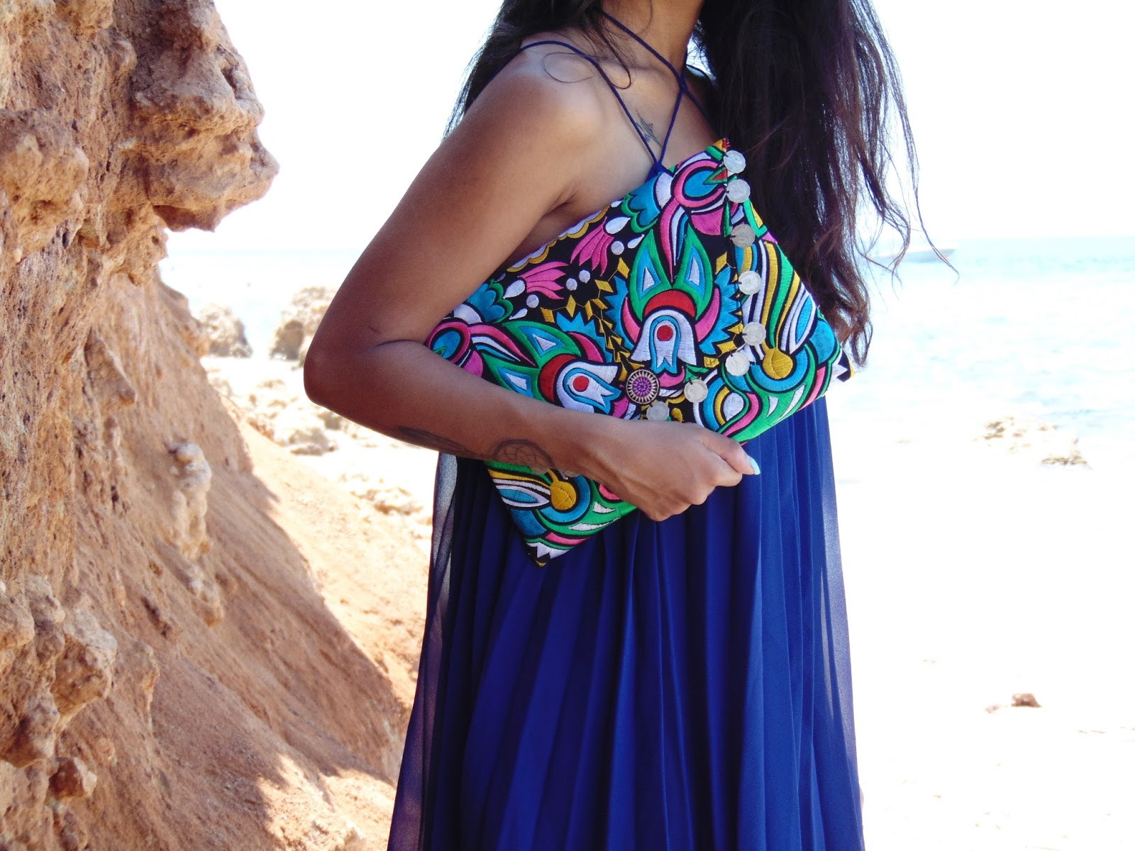 blue beach dress for summer