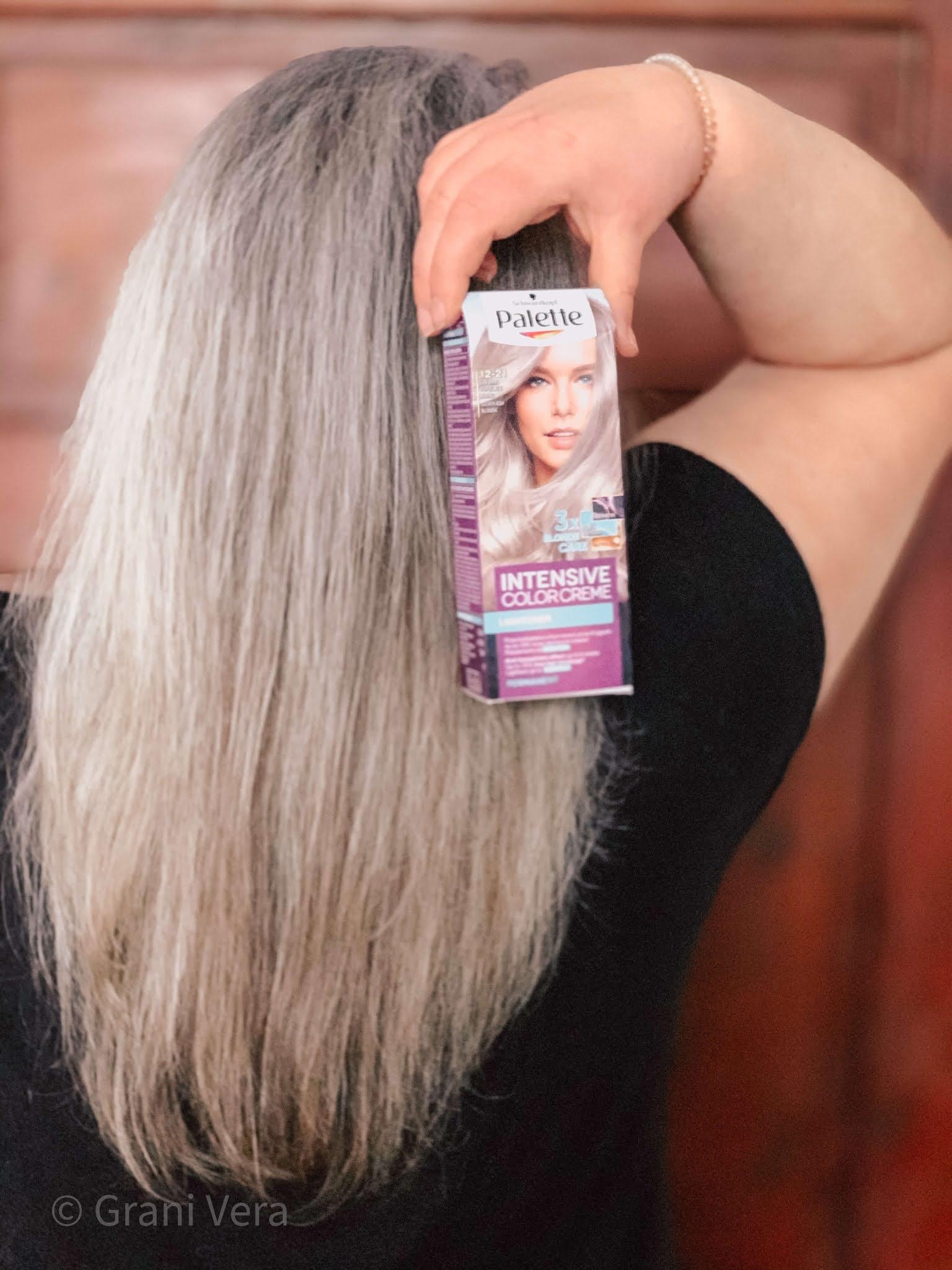 Domowe farbowanie włosów farbą Palette 12-21 Popielaty Blond