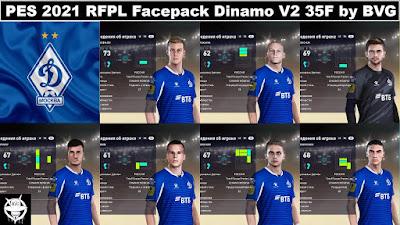 PES 2021 RFPL Facepack Dinamo Moskva V2 35F by BVG