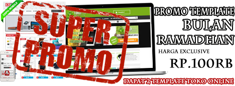 Promo Template Toko Online Blogspot